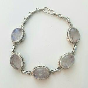 NWOT 925 Sterling silver & moonstone bracelet